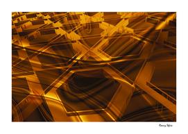 Gold hexagon