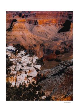 Desert landscape view at Grand Canyon national park
