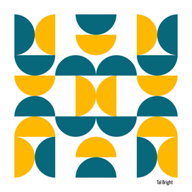 Mid centruy modern abstract geometric pattern