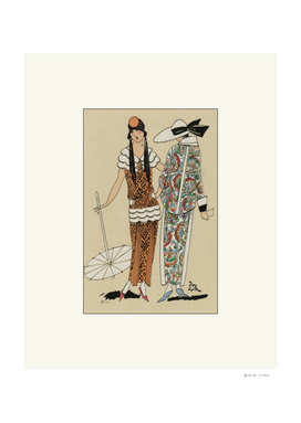 The friendship - Art Deco summer fashion print