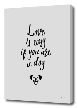 Love is easy if you are a dog