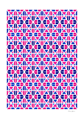 Red and Blue Stripes Pattern