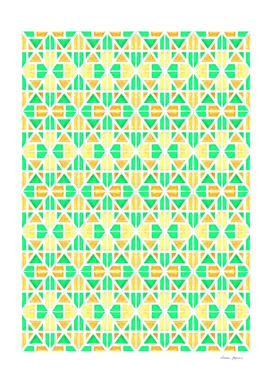 Green and Orange Stripes Pattern
