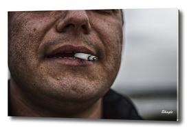Men smoking cigar