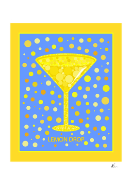 Lemon Drop Martini | Cocktail | Pop Art