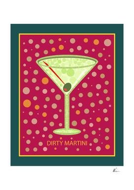 Dirty Martini   Cocktail   Pop Art