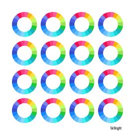 Colour wheel modern minimal pattern