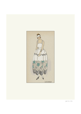 Luciole - Historical Vintage Art Deco Fashion print