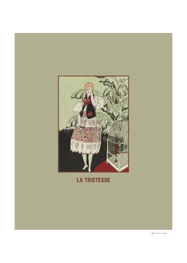 La tristesse - Historical Vintage Art Deco Print