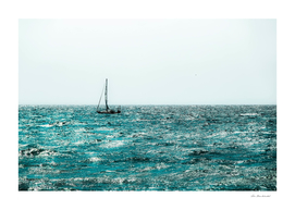sail boat on the lake with blue water at Lake Tahoe