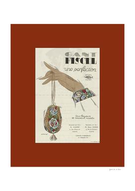La publicité - Historical Art Deco Avertissement, 1920s