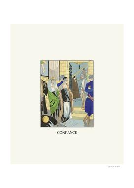 Confiance - Historical Art Deco Vintage Fashion Print