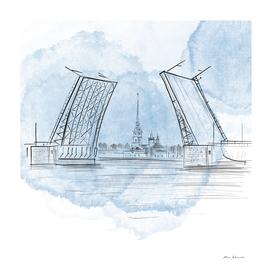 Saint-Petersburg, digital illustration