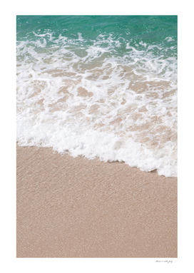 Emerald Beige Ocean Waves Dream #1 #water #decor #art