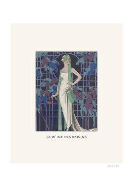 La reine des raisins - Art Deco Vintage Fashion Print