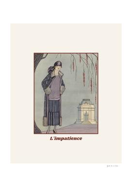 L'imaptience - Retro, Vintage Art Deco Fashion print