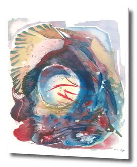 Abstract underwater world