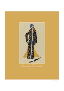 Beaucoup de pensées - Art Deco Fashion print