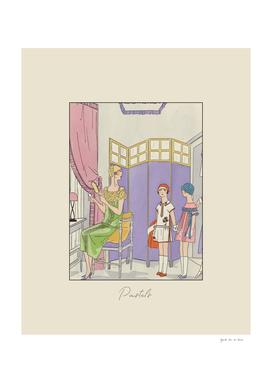 Pastels - Historical Art Deco Vintage Fashion Print