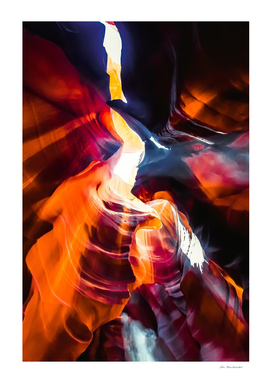Sandstone abstract background at Antelope Canyon