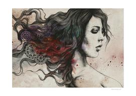 White Noise | female portrait mandala art
