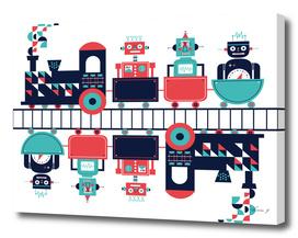 Tren robótico (robotic train)