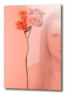 woman and rose