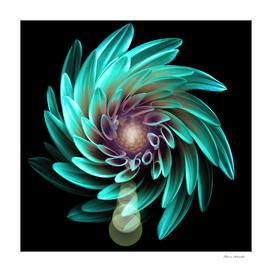 Black Turquoise Flower