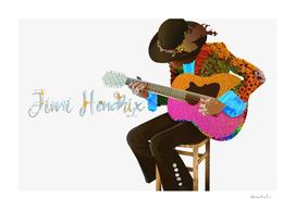 Jimi Hendrix Playing Acoustic Guitar