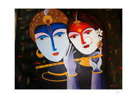 Divine Lovers Krishna and Radha