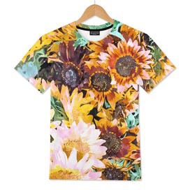 Summer Sunflowers, Modern Bohemian Urban Jungle Paint