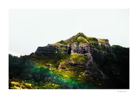 green tropical mountains at Kauai, Hawaii, USA