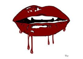 Vampire blood dripping