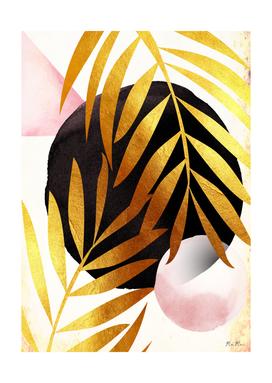 Abstract palm tree mama art
