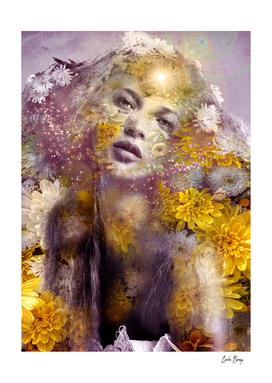 Divine Yellow Flower Vintage Boho Woman