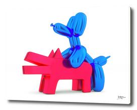when balloon dog meets keith haring dog