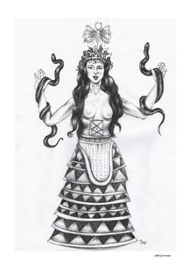 Minoan Snake Priestess