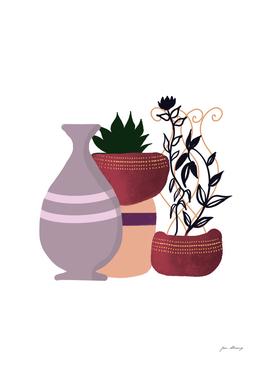 Bohemian plants pots