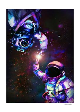 Astronaut deep space water