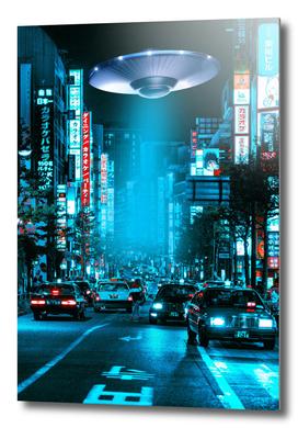 Tokyo Street Cyberpunk Ufo