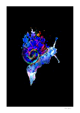Blue Dissolving Space Snail black