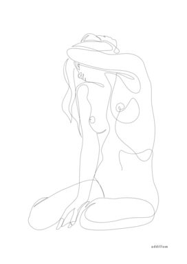 seclusion - one line nude