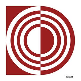 Modern abstract geomteric art (dark red)