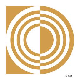 Modern abstract geomteric art (gold)