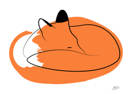 Fox witn paint spot
