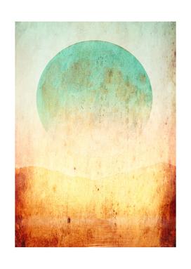minimalist abstract landscape mama art