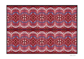 Jelly Fish Eyes Abstract Animal Red Pattern