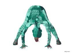 Prasarita Padottanasana in Green