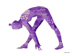 Parsvotanasana in Purple