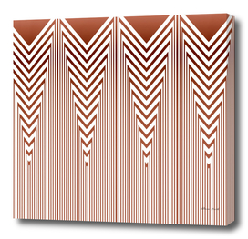 Art Deco Nautical Stripes in Rust